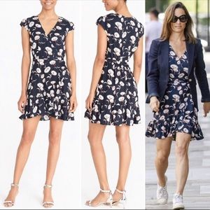 J. Crew Dresses - J.crew Mercantile Faux wrap blue floral mini dress